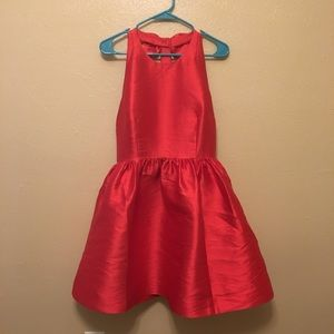 Kate Spade Red T-Back Flare Dress with Bow